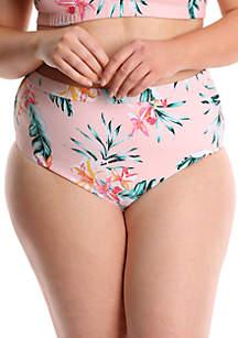 Lysa Plus Size High Waisted Bikini Swim Bottoms
