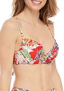 RACHEL Rachel Roy Fleur De Jardin Undewire Swim Top