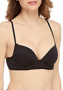 RACHEL Rachel Roy Swim Solid Pique Bustier Bikini Top