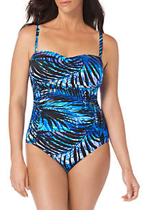 Longitude Tropical Shirred One-Piece Swimsuit