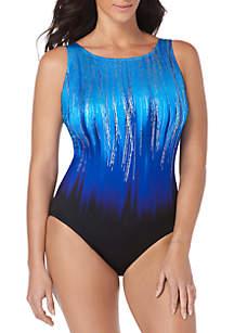 Longitude Scoop Back High Neck One-Piece Swimsuit