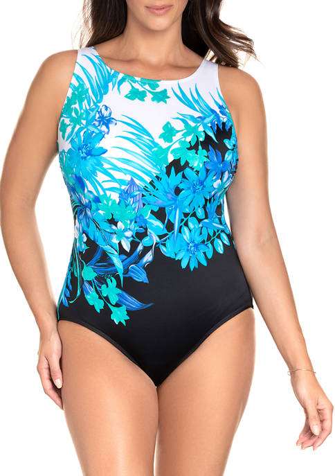 Longitude Scenic Route High Neck One Piece Swimsuit