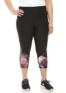 e87106901 ... Marika® Curves Plus Size Capri Leggings