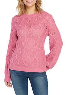 Wayf Ansel Diamond Cable Knit Sweater