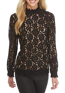 Miranda Long Sleeve Lace Top