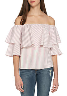 Gracie Off-The-Shoulder Ruffle Top