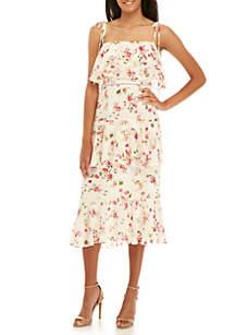 Imola Tier Floral Midi Dress