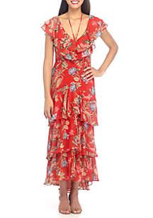 Chelsea Tier Ruffle Maxi Dress