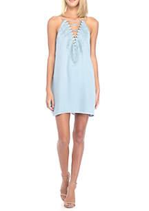 Poise Lace Trim Slip Dress