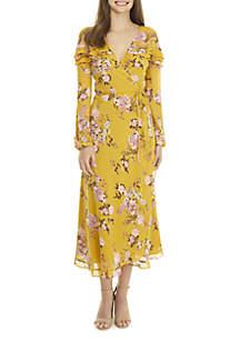 Mariah Long Sleeve Wrap Dress