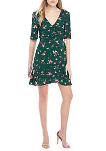 Gabby Short Sleeve Ruched Mini Dress
