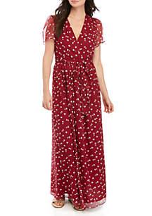 Wayf Wrap Floral Maxi Dress