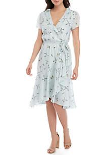 Wayf Ruffle Wrap Mini Dress
