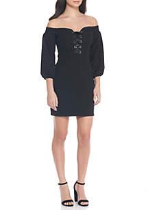 Lydia Off-The-Shoulder Dress