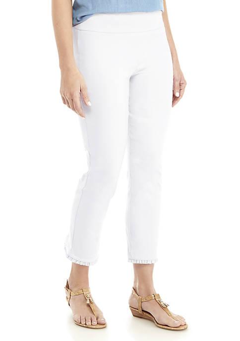 Crown & Ivy™ Ruffle Back Crop Pants