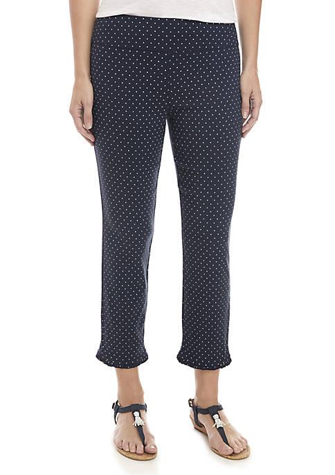 Crown & Ivy™ Ruffle Hem Tech Stretch Trousers