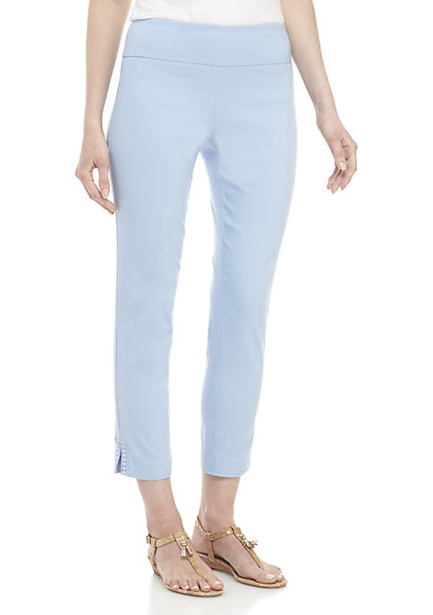 Crown & Ivy™ Crochet Hem Tech Stretch Pants