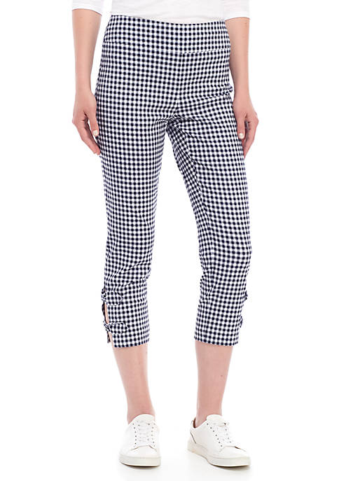 Crown & Ivy™ Pull On Gingham Pants