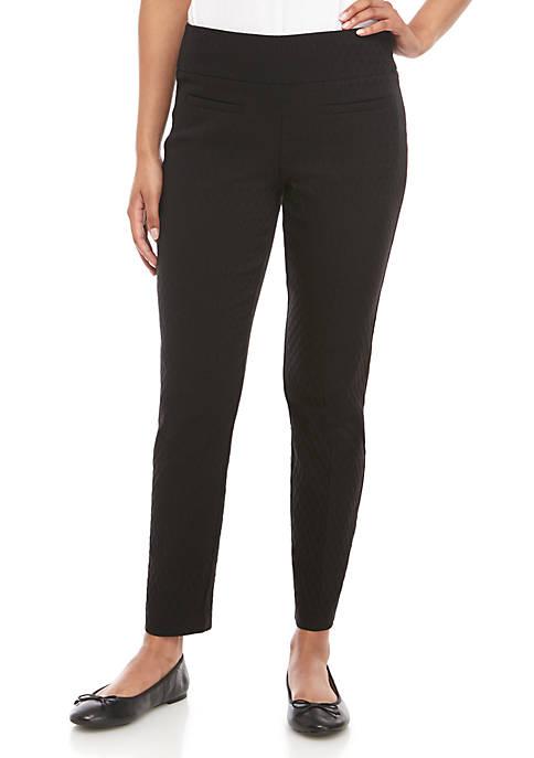 Crown & Ivy™ Womens Tech Stretch Jacquard Pants