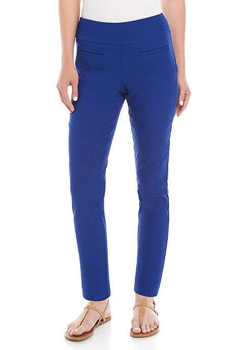 Crown & Ivy™ Tech Stretch Jacquard Pants