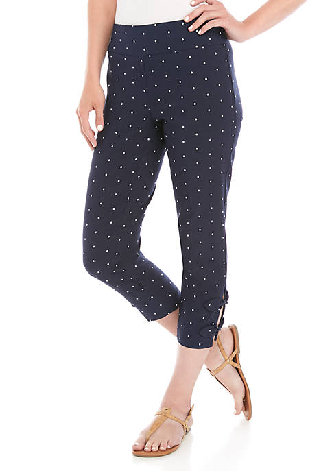 Crown & Ivy™ Knot Hem Dotted Tech Bi