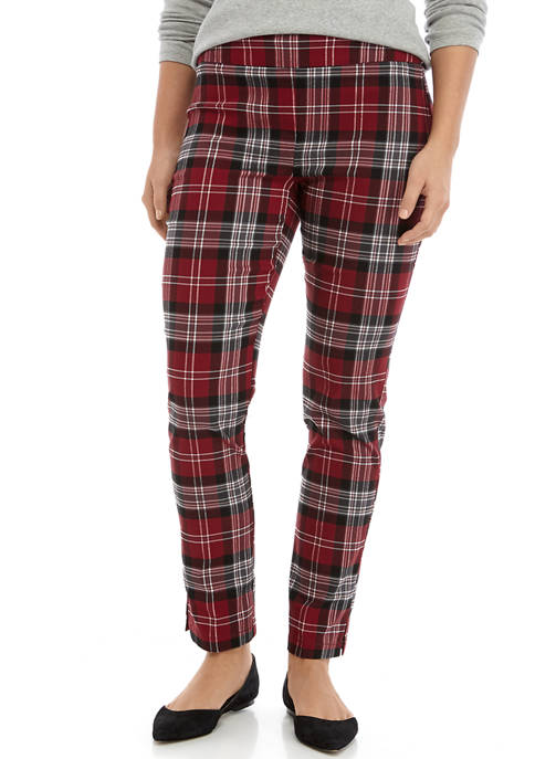 Crown & Ivy™ Womens Plaid Stretch Pants