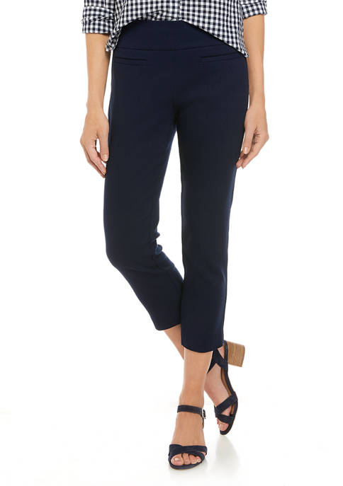 Womens Cropped Jacquard Pants