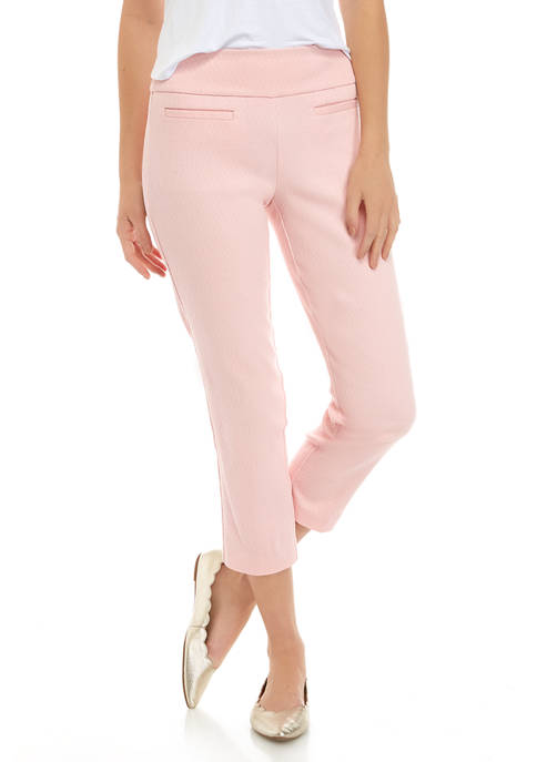 Crown & Ivy™ Womens Cropped Jacquard Pants
