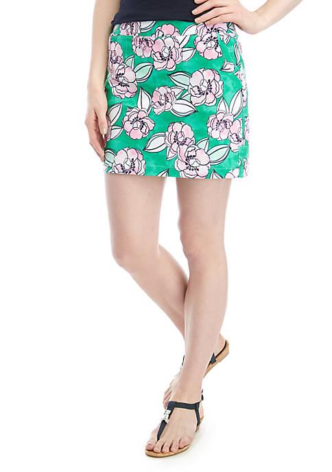 Crown & Ivy™ Poppy Love Watercolor Floral Skort
