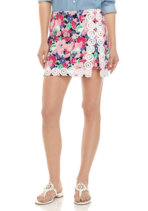 Crown & Ivy™ Womens Pull On Printed Skort
