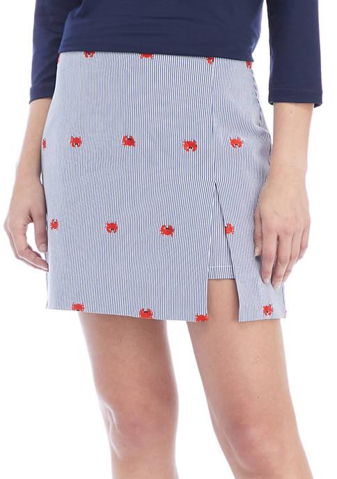 Crown & Ivy™ Striped Crab Print Skort