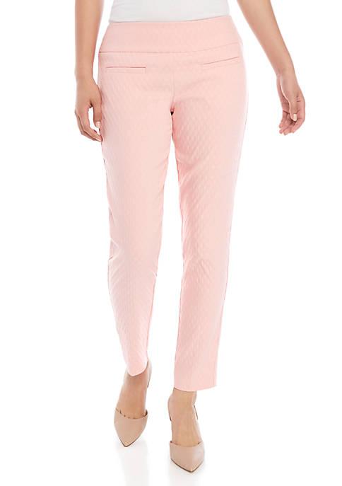 Crown & Ivy™ Petite Tech Stretch Jacquard Pants