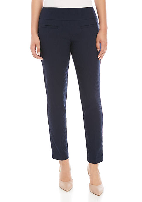 Crown & Ivy™ Petite Tech Stretch Jacquard Pants