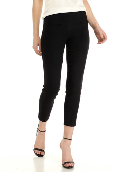 Crown & Ivy™ Petite Jacquard Tech Stretch Pants