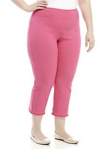Crown & Ivy™ Plus Size Ruffle Back Tech Stretch Pants