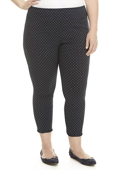 Crown & Ivy™ Plus Size Polka Dot Print