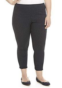 Crown & Ivy™ Plus Size Polka Dot Print Pants