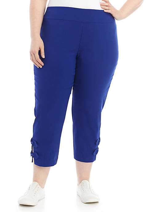 Crown & Ivy™ Plus Size Knot Hem Stretch
