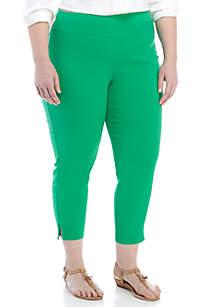 Crown & Ivy™ Plus Size Crochet Hem Tech Stretch Pants