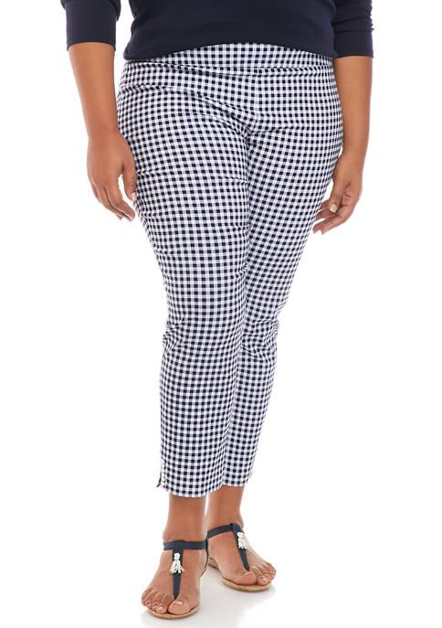 Crown & Ivy™ Plus Size Crochet Detail Ankle