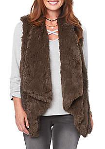 Draped Fur Vest
