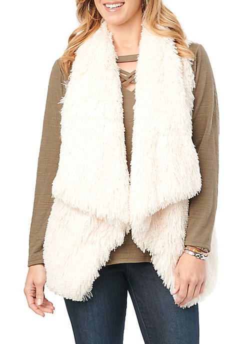 Democracy Womens Shaggy Fur Vest