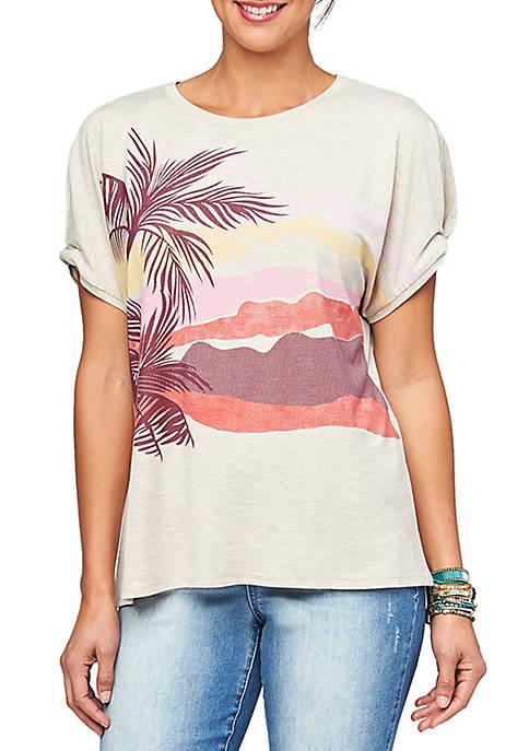 Palm Screen Print T Shirt
