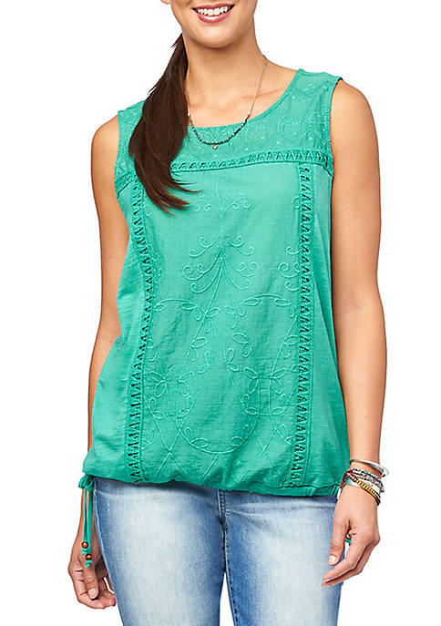 Knit Embroidered Tank