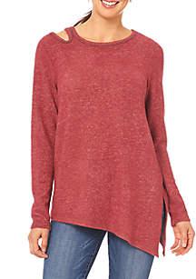 One Shoulder Detail Asymmetrical Top