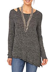Long Sleeve One Shoulder Asymmetrical Top