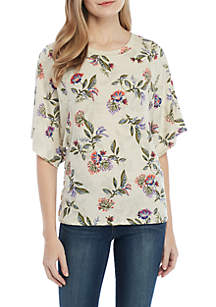 b992bf85fbbe48 ... Democracy Floral Dolman Sleeve Top