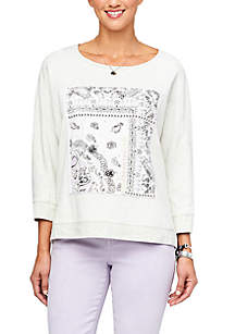 Democracy High Low Patch Front Sweatshirt