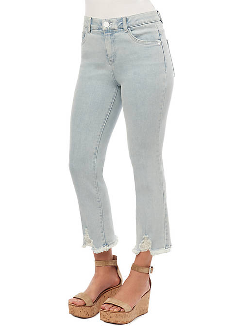 High Rise Absolute Straight V Cutout Jeans