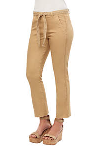 Democracy Belted High Rise Absolute Kick Flare Pants